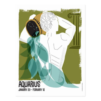 Aquarius the Water Bearer Zodiac Postcard