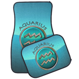 Aquarius - The Water Bearer Zodiac Symbol Car Mat