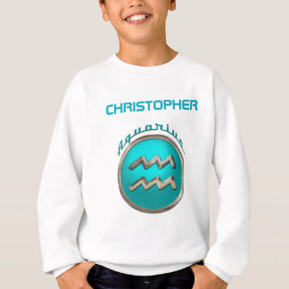 Aquarius - The Water Bearer Zodiac Symbol Sweatshirt