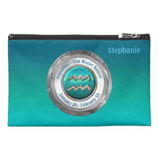 Aquarius - The Water Bearer Zodiac Symbol Travel Accessory Bag