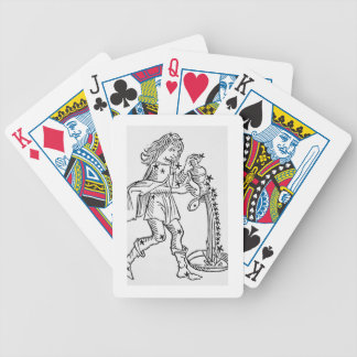 Aquarius (the Water Carrier) an illustration from Poker Deck