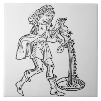 Aquarius (the Water Carrier) an illustration from Tile