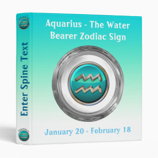 Aquarius - The Water Pitcher Astrological Sign Binders