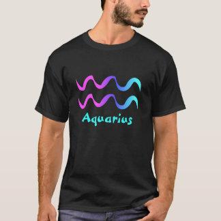 Aquarius tshirt zodiac sign waves