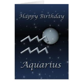 Aquarius Uranus Happy Birthday Greeting Card