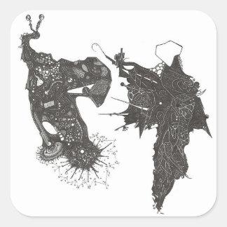 Aquarius Vs. Orion Square Sticker