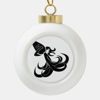 aquarius water bearer astrology horoscope zodiac ceramic ball christmas ornament