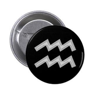 Aquarius Water Bearer Zodiac Button