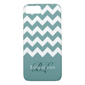 aquarius white chevron on blue iPhone 8/7 case