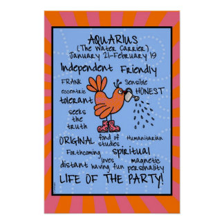Aquarius wordcloud poster