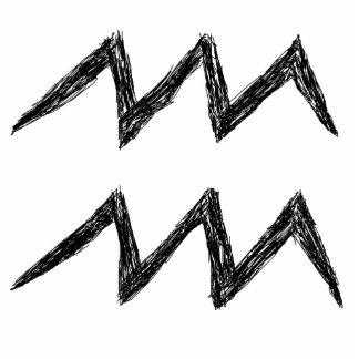 Aquarius. Zodiac Astrology Sign. Black. Acrylic Cut Outs