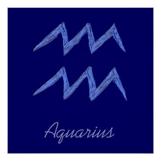 Aquarius. Zodiac Astrology Sign. Poster