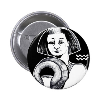 Aquarius - Zodiac Badge round 2 Inch Round Button