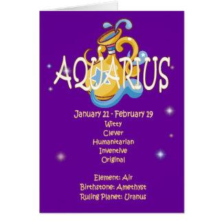 Aquarius Zodiac Birthday Card