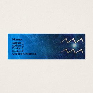 Aquarius Zodiac Business Card Template