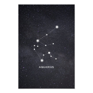 Aquarius Zodiac Constellation Poster