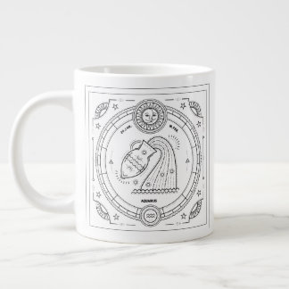 Aquarius Zodiac Custom Birthday Mug