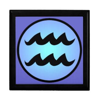 Aquarius Zodiac Dreamy Blues Gift Box