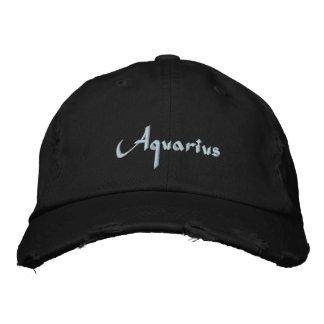 Aquarius Zodiac Embroidered Cap / Hat