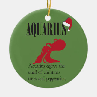 Aquarius Zodiac Holiday Ornament