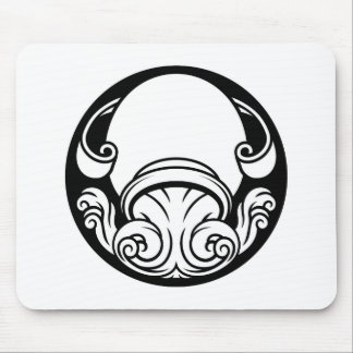 Aquarius Zodiac Horoscope Astrology Sign Mouse Pad