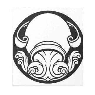 Aquarius Zodiac Horoscope Astrology Sign Notepad