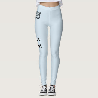 Aquarius Zodiac Leggings