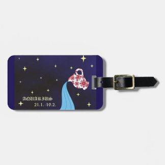 Aquarius zodiac Luggage Tag