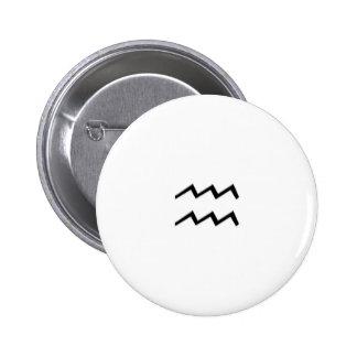 Aquarius - Zodiac Sign 2 Inch Round Button