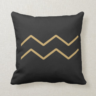 Aquarius Zodiac Sign Basic Throw Pillow