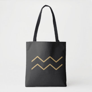 Aquarius Zodiac Sign Basic Tote Bag