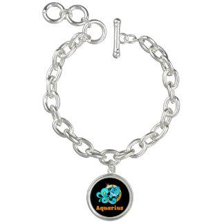 Aquarius zodiac sign bracelet