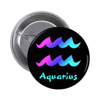 Aquarius zodiac sign buttons