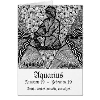 Aquarius   (Zodiac sign) Card