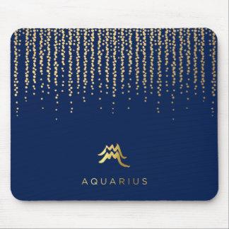 Aquarius Zodiac Sign Computer Mousepad