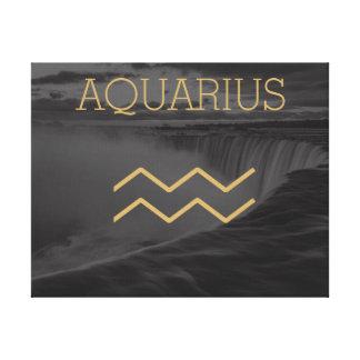 Aquarius Zodiac Sign | Custom Background + Text