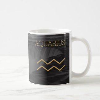 Aquarius Zodiac Sign | Custom Background + Text Coffee Mug
