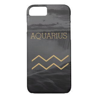 Aquarius Zodiac Sign | Custom Background + Text iPhone 8/7 Case
