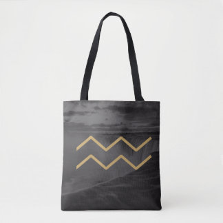 Aquarius Zodiac Sign | Custom Background Tote Bag
