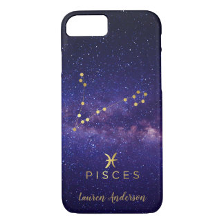 Aquarius Zodiac Sign Custom Name IPhone Case