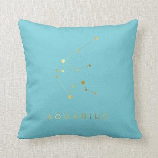 Aquarius Zodiac Sign Custom Throw Pillow Decor