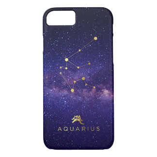 Aquarius Zodiac Sign Galaxy IPhone Case