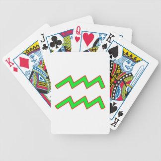 Aquarius Zodiac Sign Poker Deck