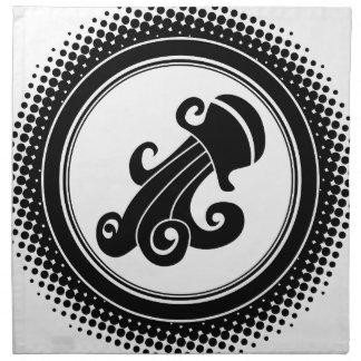Aquarius Zodiac Sign Printed Napkins
