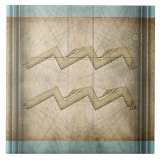 Aquarius Zodiac Sign Tile