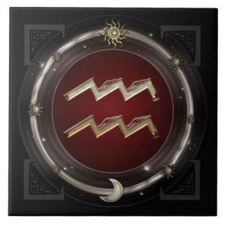 Aquarius Zodiac Sign Tiles