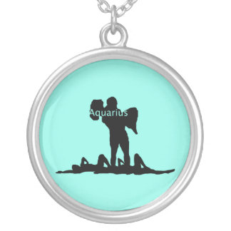 Aquarius Zodiac Silver Plated Necklace