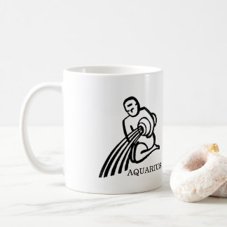 AQUARIUS Zodiac Vintage Man Horoscope Coffee Mug