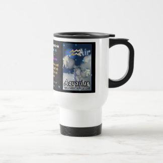 Aquarius Zodiac white travel Mug