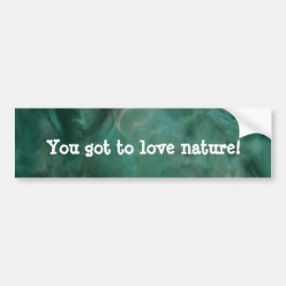 Aquatic Abstract - Painted by Nature Car Bumper Sticker